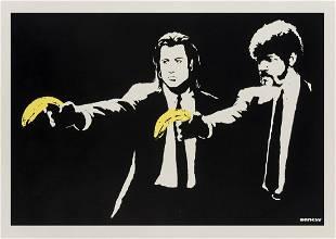 ** δ Banksy (b.1974) Pulp Fiction