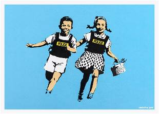 δ Banksy (b.1974) Jack and Jill (Police Kids)