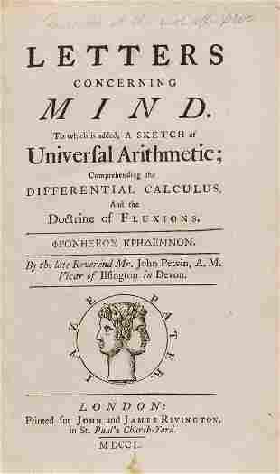 Mathematics.- Petvin (Rev. John) Letters Concerning
