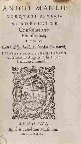 Boethius (Anicius Manilus Torquatus) De consolatione