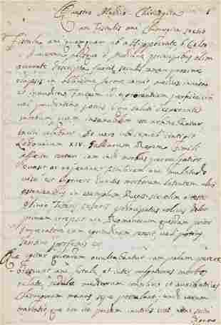 Medicine.- Astruc (Jean) De fistula ani, manuscript in