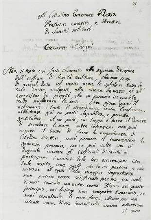 Medicine.- Ghigini (Giovanni) Sull'abuso della sciringa