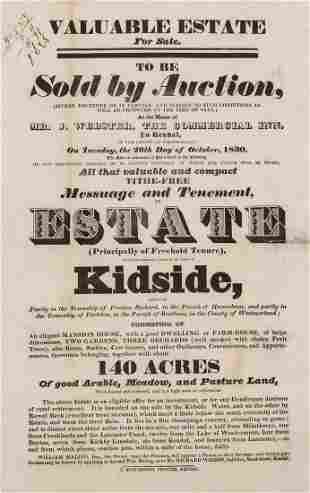 19th Century Property Auctions.- The Several Valuable