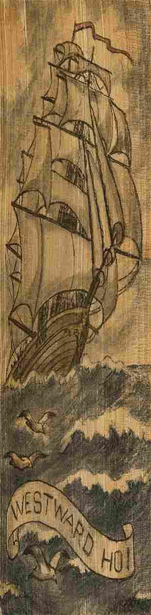 Fore-edge painting.- Kingsley (Charles) Westward Ho!,