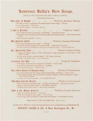 Wilde (Oscar).- [Oh, Beautiful Star lyrics by Wilde].-