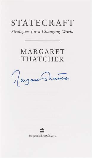 Thatcher (Margaret) Statecraft, first edition, signed