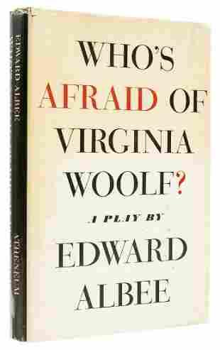 Albee (Edward) Who's Afraid of Virginia Woolf?, first