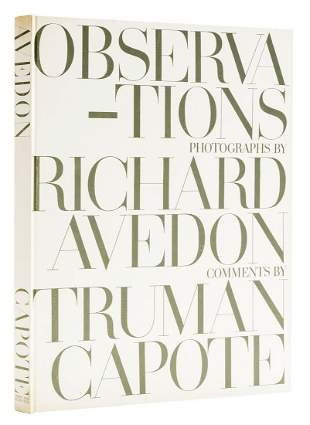 Capote (Truman) and Richard Avedon. Observations, first