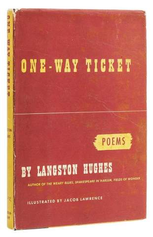Hughes (Langston) One-Way Ticket, first edition, signed