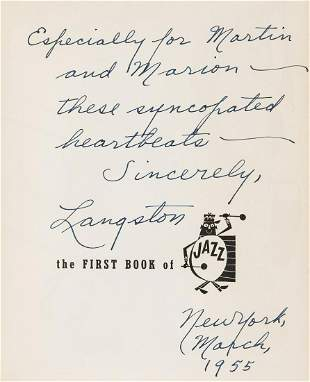 Hughes (Langston) The First Book of Jazz, first