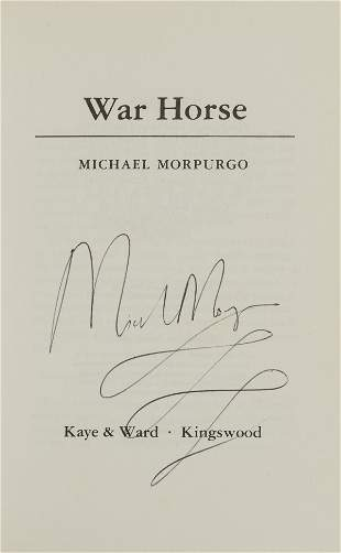Morpurgo (Michael) War Horse, first edition, signed by
