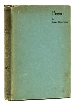 Rosenberg (Isaac) Poems, first edition, signed