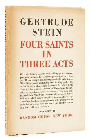 Stein (Gertrude) Four Saints in Three Acts, first