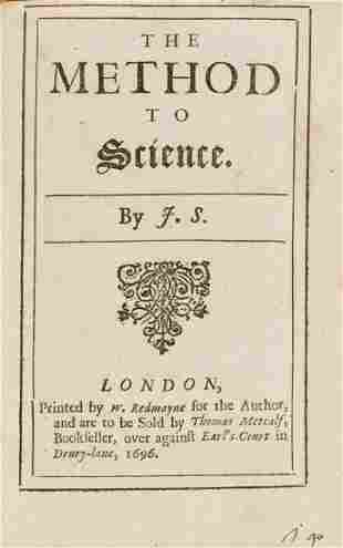 Sergeant (John) The Method of Science, first edition,