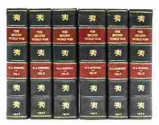 Churchill (Winston S.) The Second World War, 6 vol.,