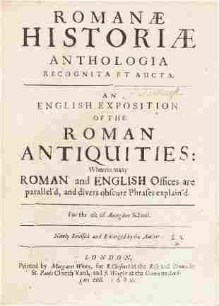 Ancient history.- Godwyn (Thomas) Romanæ