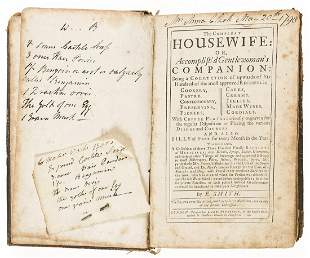 Cookery.- Smith (Eliza) The compleat housewife: or