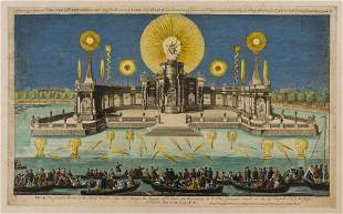 Fireworks.- Sayer (Robert) A View of ye Grand Theatre &