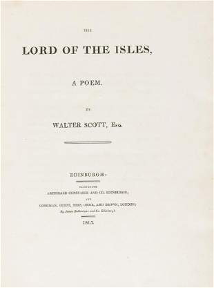 Scott (Sir Walter) The Lord of the Isles, a poem, first