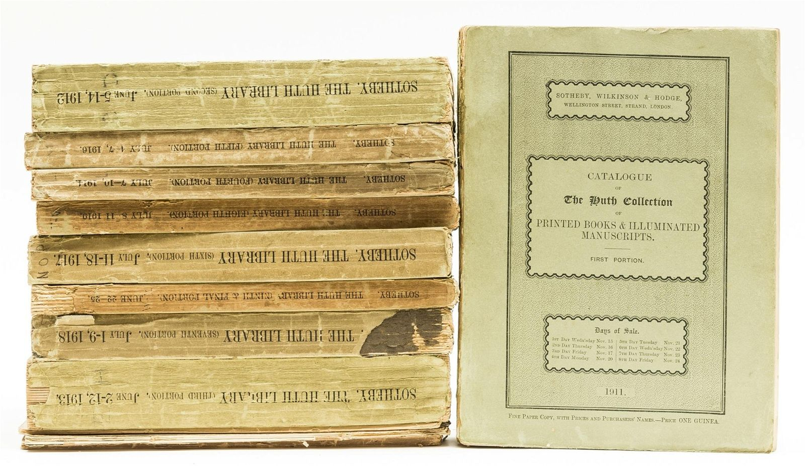 Huth Library. Catalogue of the Famous Library of