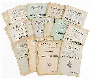 Opera and ballet.- A collection of c.35 ballet and