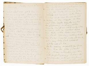 Acton (Harold).- Howard (Brian) Autograph journal of