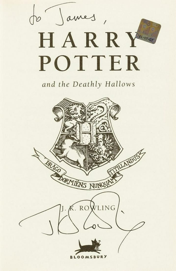 Rowling (J.K.) Harry Potter and the Deathly Hallows,