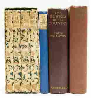 Wharton (Edith) Old New York, 4 vol., first editions,