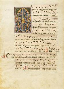 Venetian choirbook.- Single leaf from a 13th century