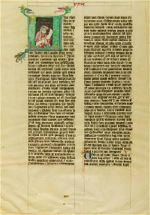 Miniature.- The Prophet Isaiah, in a historiated