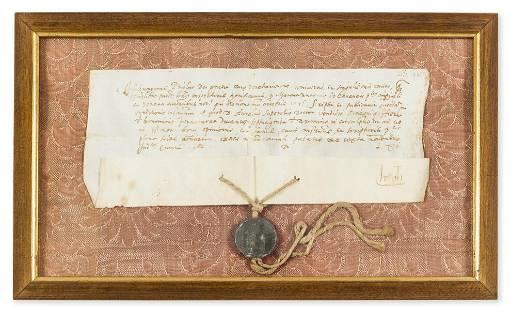 Doge of Venice.- Priuli (Girolamo) Commission relating