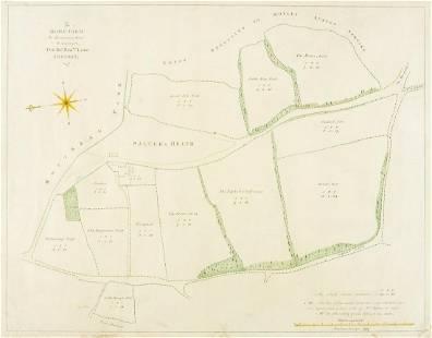 Kent Estate Map, Chevening.- Barham (surveyor) The Home