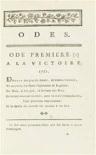 American Revolutionary War.- West Indies.- Castéra