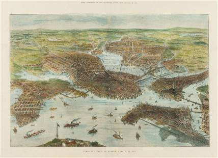 America.- Illustrated London News (The) Bird's-Eye View