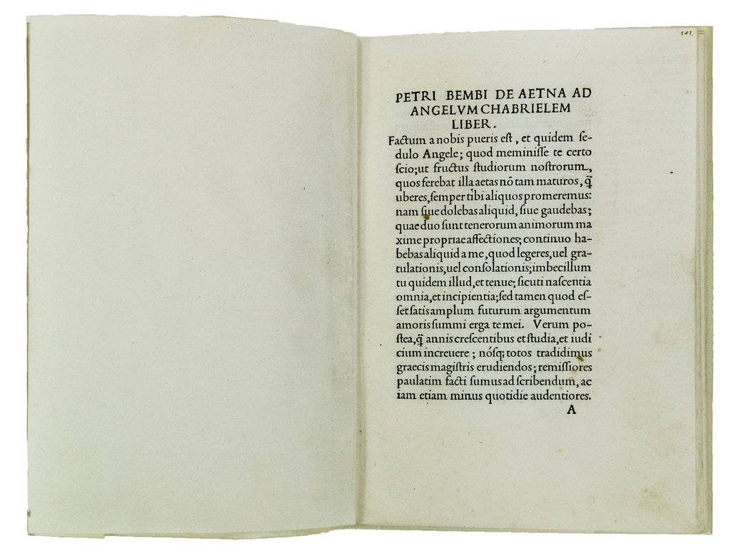 Bembo (Pietro) De Aetna dialogus, the first Aldine in