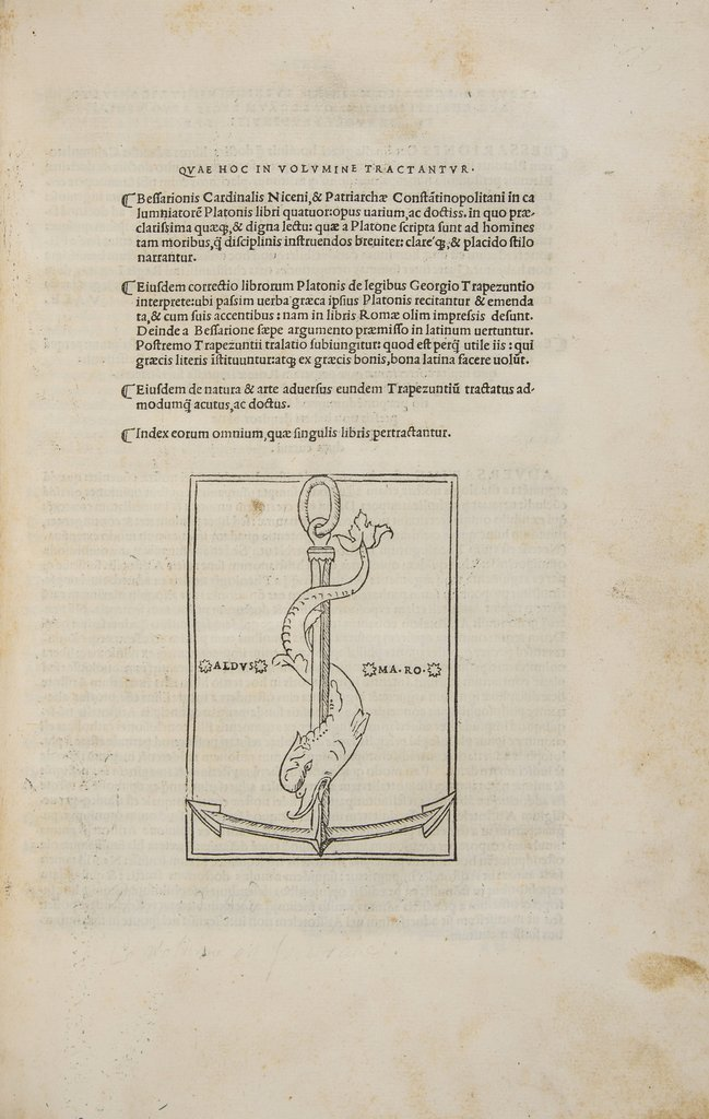 Bessarion (Basilius) In Calumniatorem Platonis libri