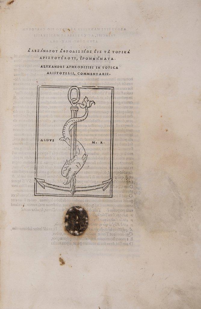 Alexander, Aphrodisiensis. In Topica Aristotelis,