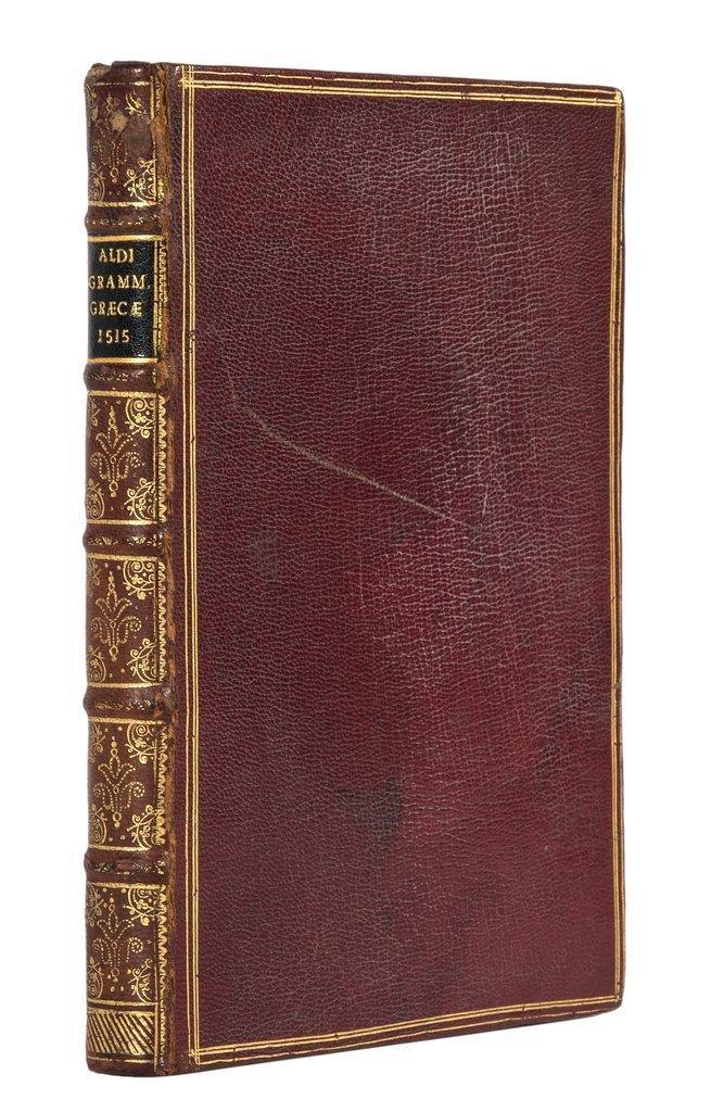 Manutius (Aldus) Grammaticae Institutiones Graecae,