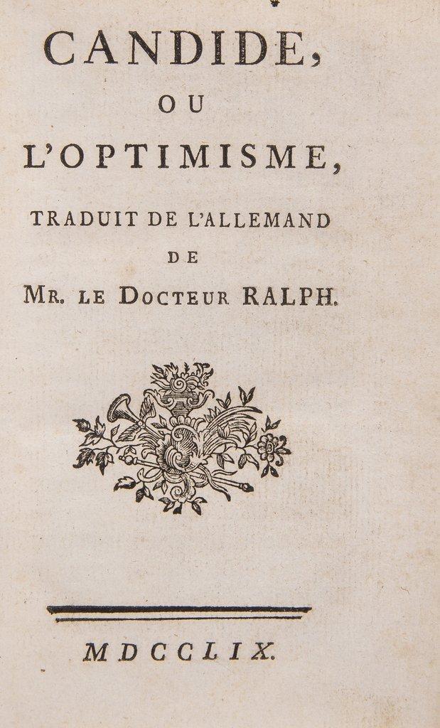 Voltaire (François Marie Arouet de) Candide,