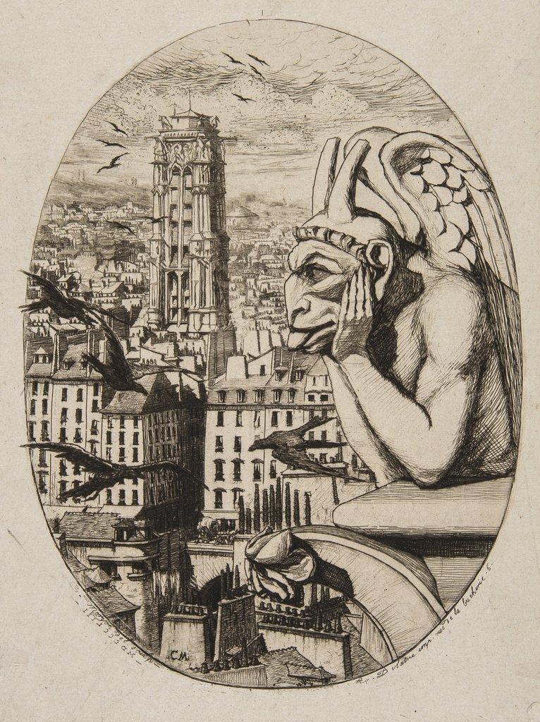 Meryon (Charles) Le Stryge, 1853.