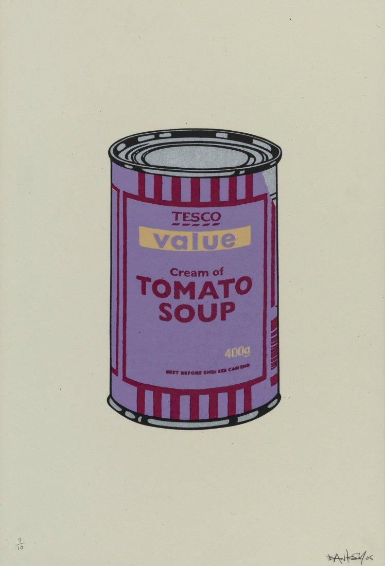 Banksy (b.1974) Soup Can (Violet/Cherry/Beige)