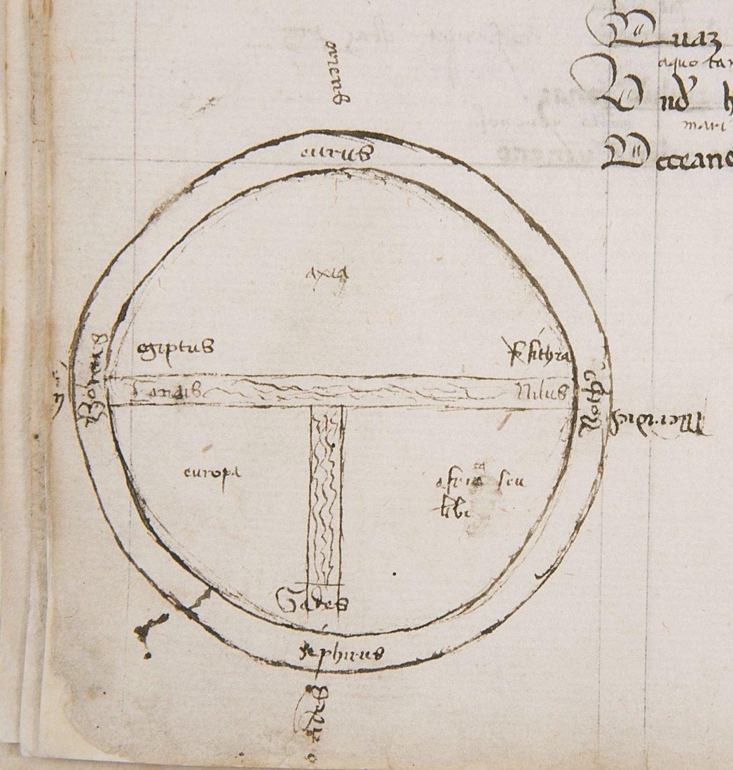T-O World Map.- Lucanus (Marcus Annaeus) Pharsalia,