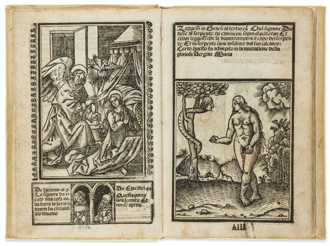Block book.- Vavassore (Giovanni Andrea) Opera nova