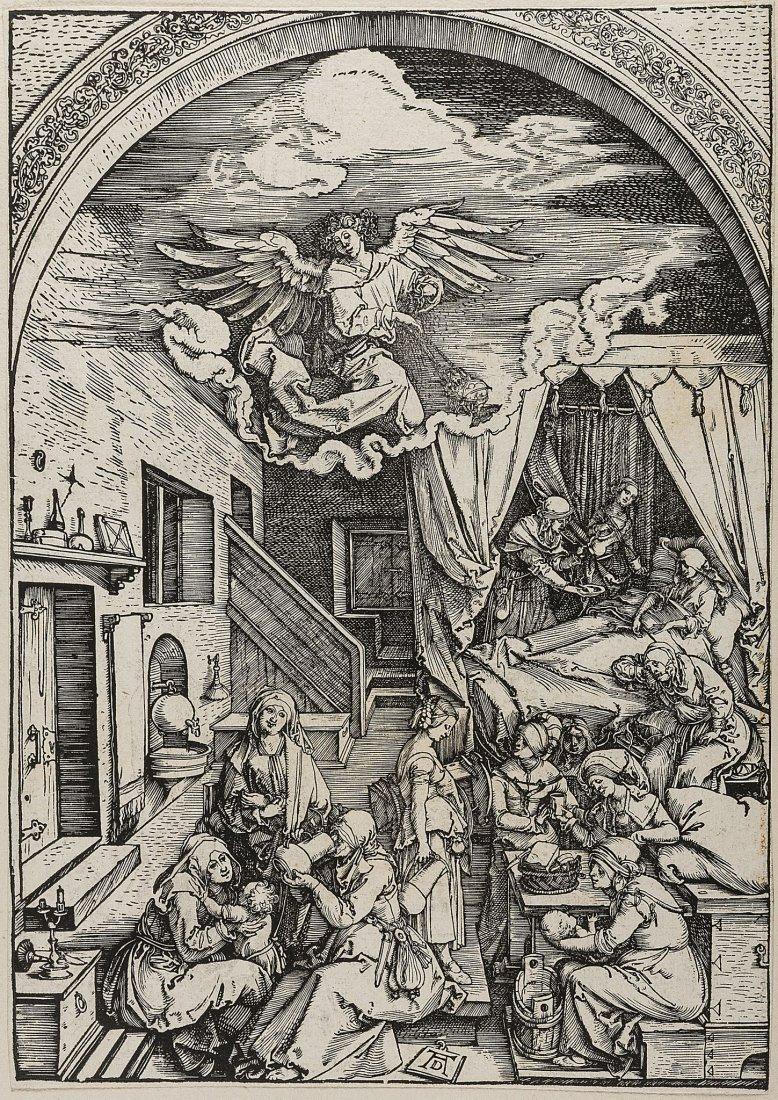 Dürer (Albrecht), The Birth of the Virgin, from: