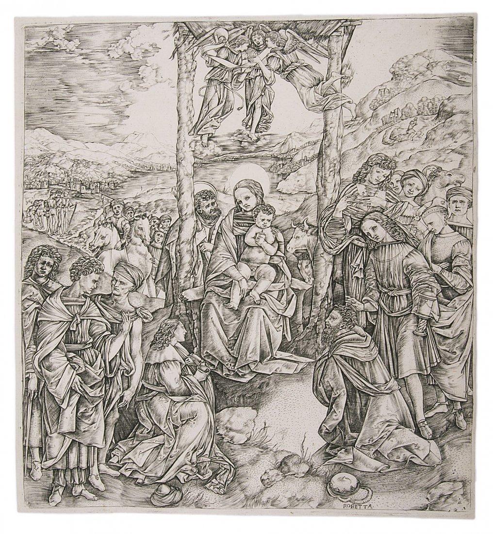 Robetta (Cristofano), Adoration of the Magi (After
