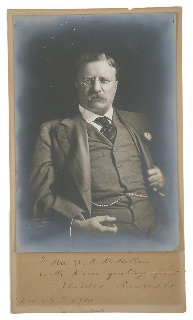 Africa.- Roosevelt (Theodore) Photographic portrait of