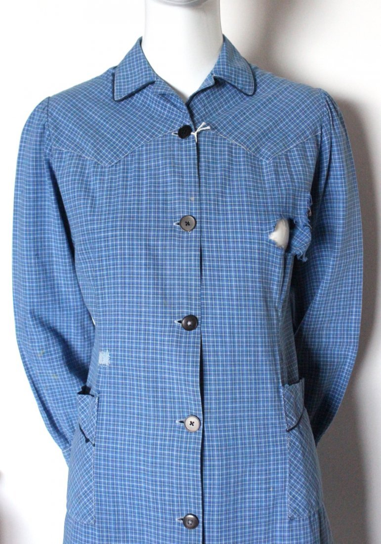 1930's French Ladies Cotton Work Shirts - 3