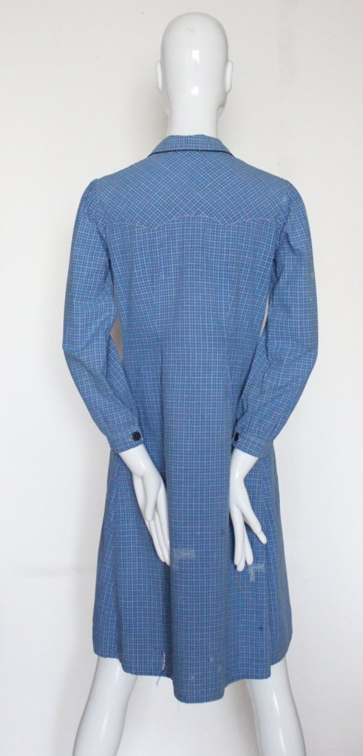 1930's French Ladies Cotton Work Shirts - 5