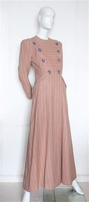 Schiaparelli Haute Couture Wool Coat, late 1930's