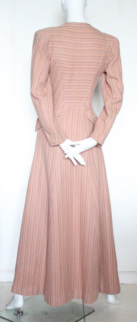 Schiaparelli Haute Couture Wool Coat, late 1930's - 3